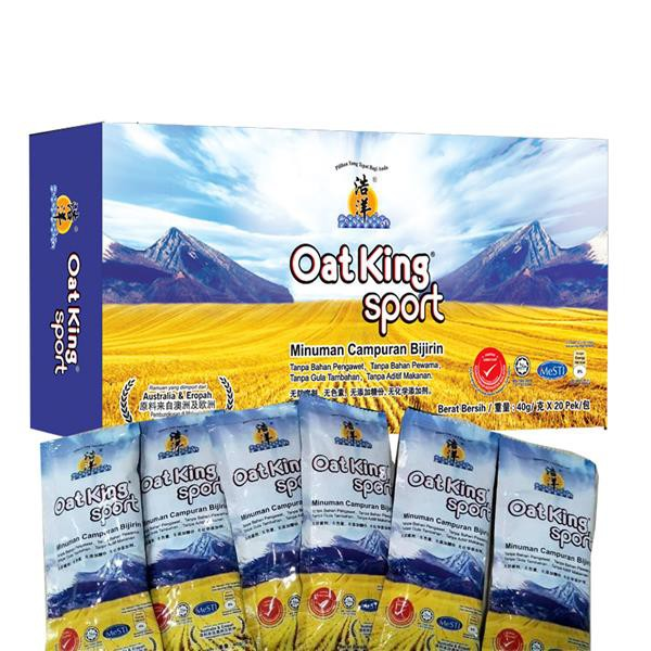 Oat King Sport 800g (40gX20 Sachets ) USE CODE : BIGC5 FOR DISCOUNT