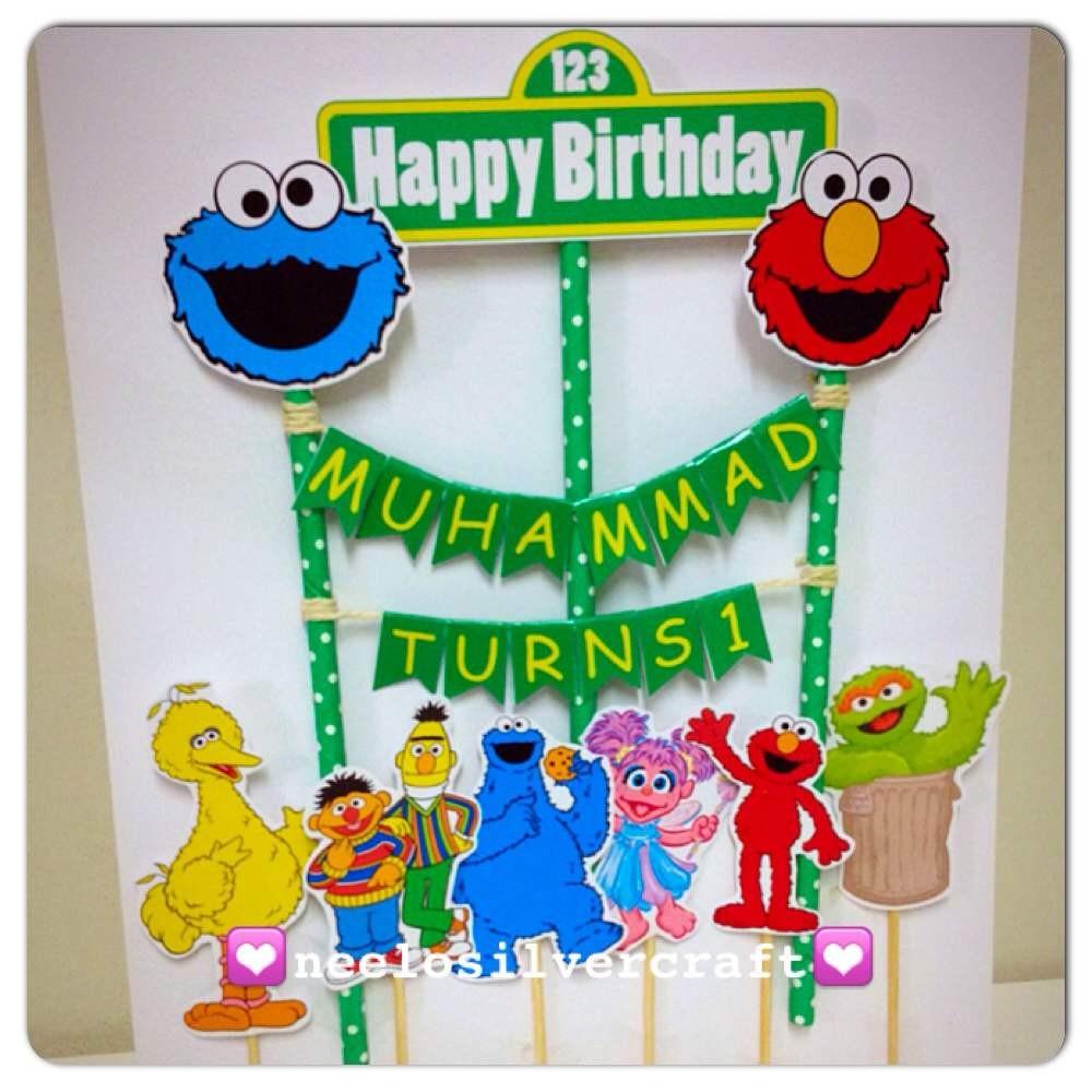 Seseme Street Elmo Friends Birthday Cake Topper