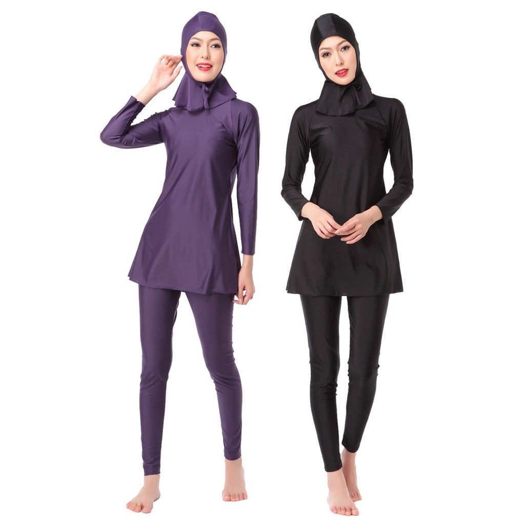 9229feb716 Muslim Swimwear muslimah Women Wear Women Spa Islamic Swimsuit Hijab  Beachwear