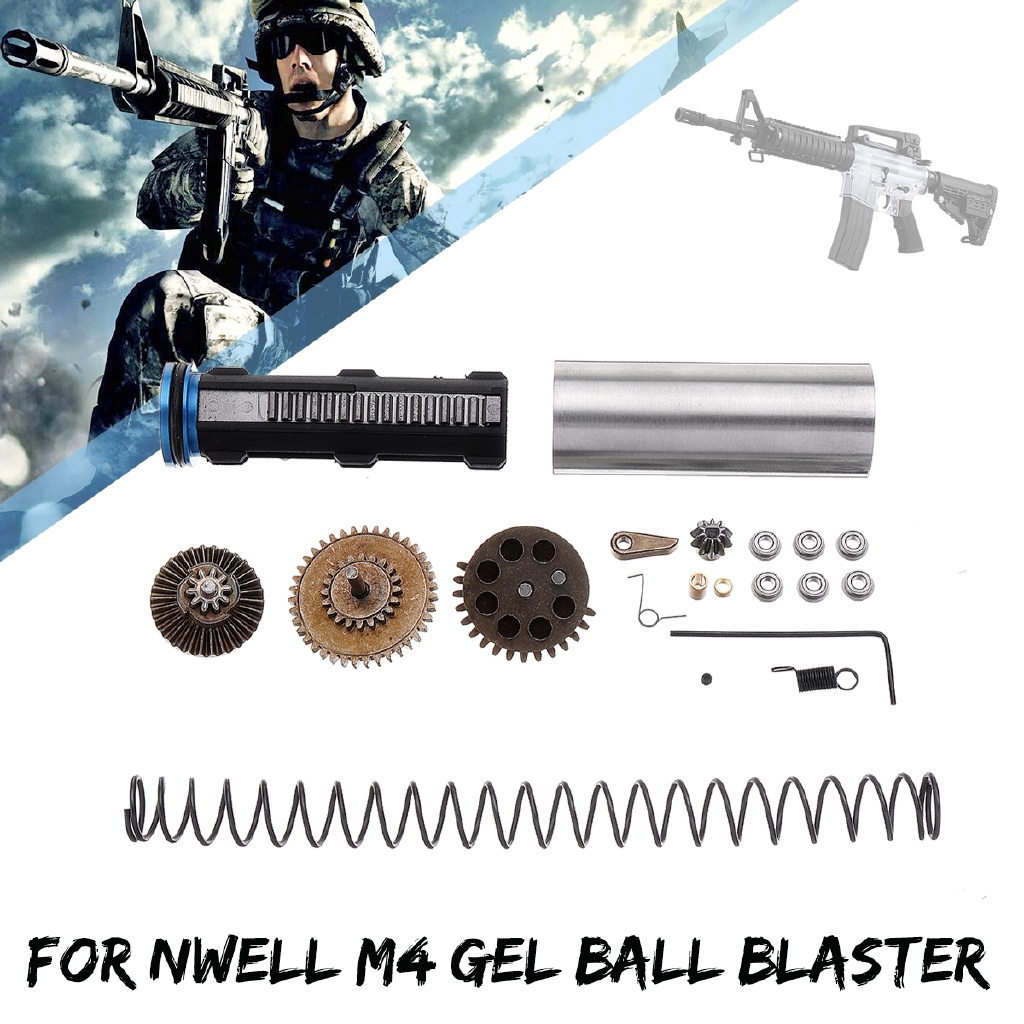 Metal Patter 7mm Bearing Cylinder Gearbox Kit For Nwell M4 Ball Blaster