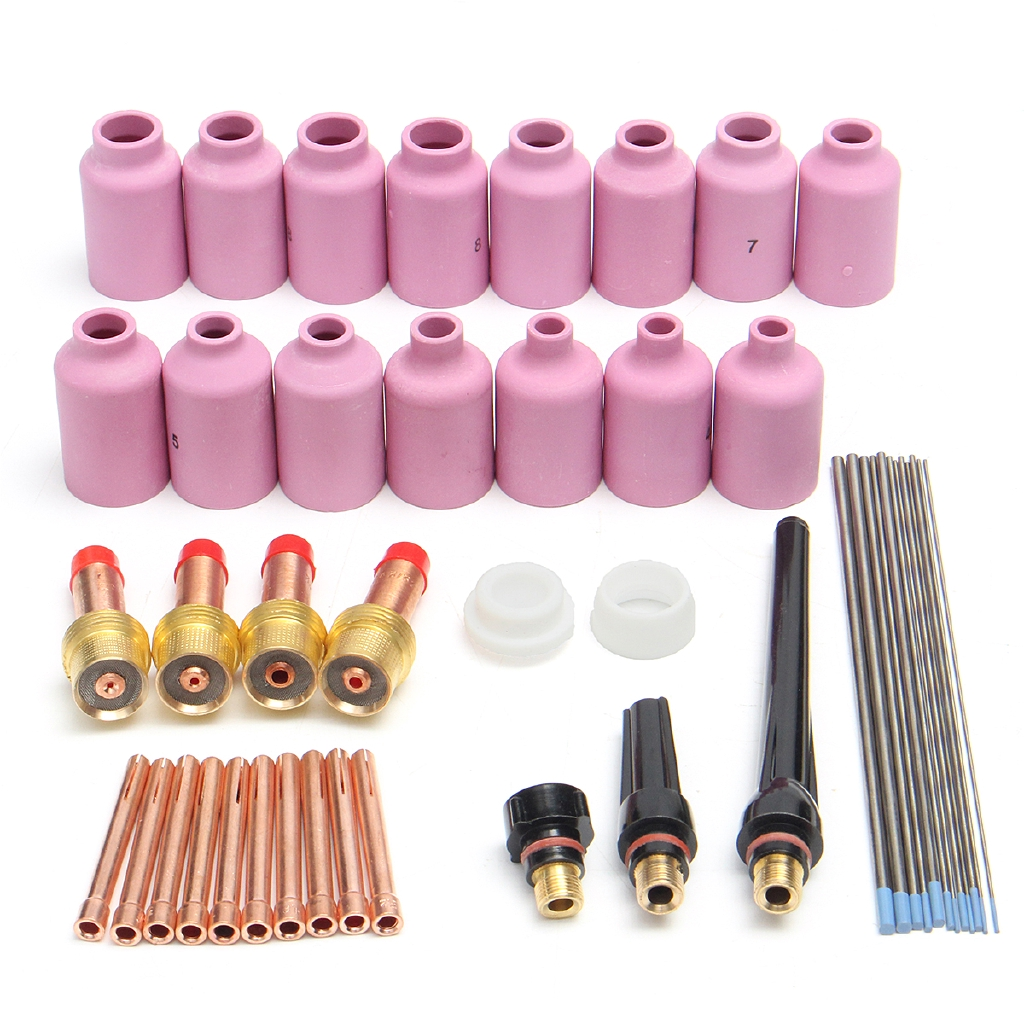 """18 pcs TIG Weld Torch Short Kit  WP-17 WP-18 WP-26 WP Tungsten 1//16/"""" 3//32/"""" 1//8/"""""""