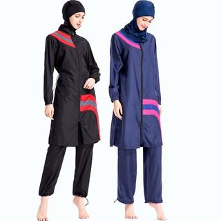 127ec9a8df2 Women Swimsuit Set Ladies Muslim Swimwear Modest Islamic Bathing Swimming  Suit B