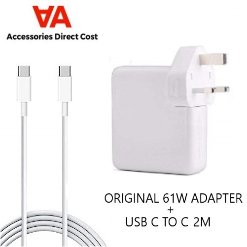 61W Original Power Adapter Charger Supply For Macbook Pro USB-C Type C with 2M Cable