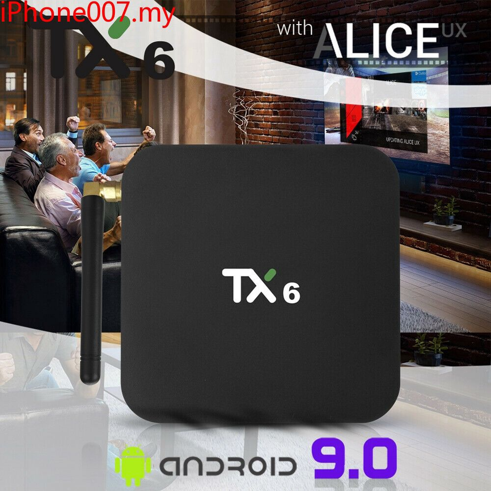 Ready TX6-A Quad Core 4GB+32GB Android 9 0 TV Box Dual 2 4Ghz WIFI HD Media  Player _7 New