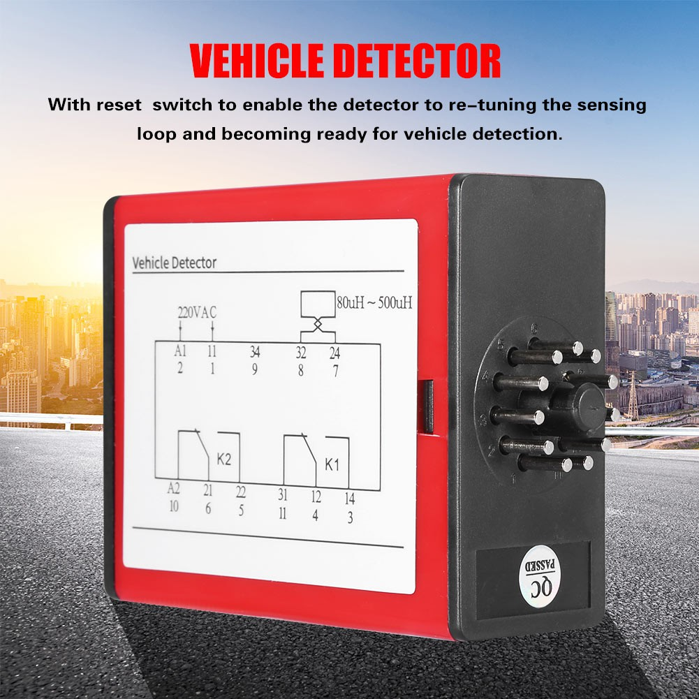 Single Channel Inductive Loop Vehicle Detector for Parking Lot Access on