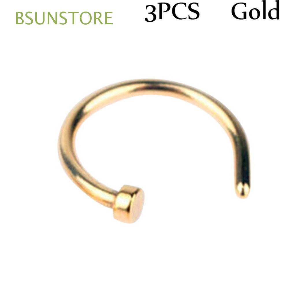 8mm Unisex Hoop Fake Charming Non Piercing Nostril Hoop Body Jewelry Nose Ring