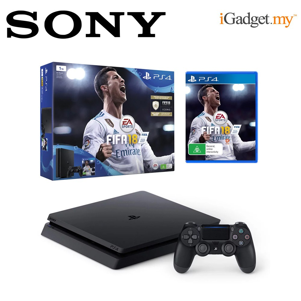Ps4 Slim 500gb Black Sony Warranty Shopee Malaysia Cuh 2006a Jet Extra Controller Ds4 New Model