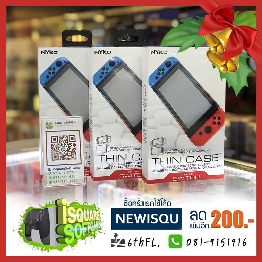 Nintendo Switch Nyko thin case ใส่ด็อกได้ ไม่ต้องถอดเคสออก มาพร้อมฟิล์มกระจก NEWISQU ลดเพิ่ม