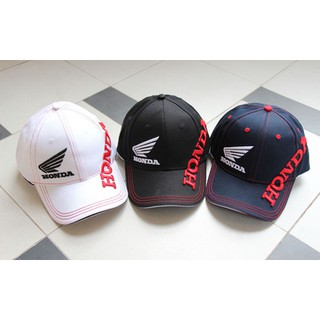 63696f18 Honda Racing Unisex Classic Cap Hat Black Red Motorcycle Cool Adjustable Cap