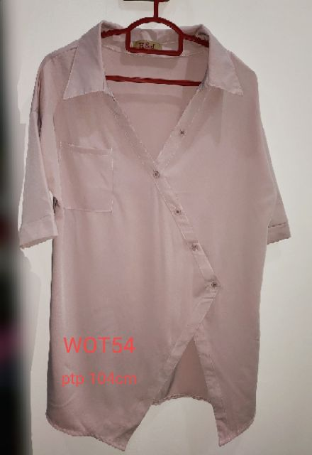 💥💯 OL blouse /top WOT54👕👍pink 👕👕