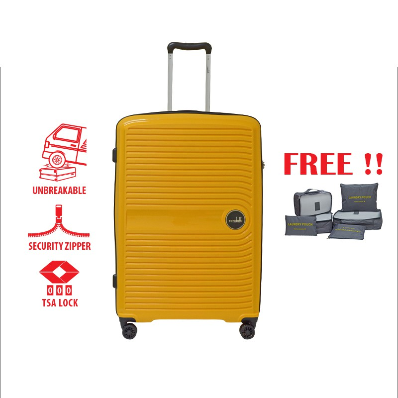 """Condotti PP Hard Case With Security Zipper K02108S (29"""") [Free 6 in 1 Pouch Bag]"""