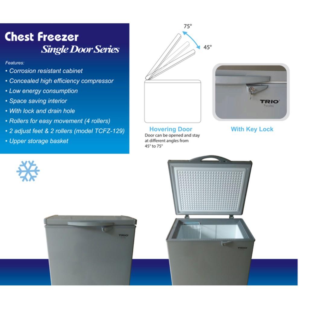 Trio Chest Freezer TCFZ129 Single Door 129L
