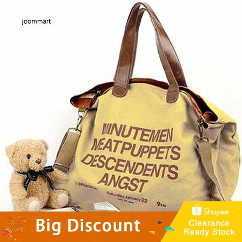 ebdf242ea853 ★Ready Stock★Women Canvas Letter Tote Messenger Handbag Zipper Shoulder Bag