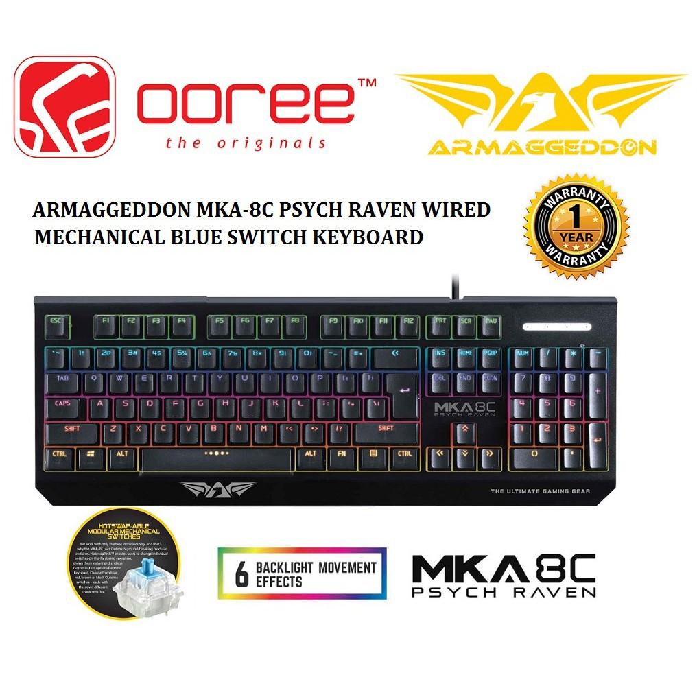 314c38045f0 Armaggeddon MKA-3C Psychfalcon Mechanical Gaming Keyboard (Blue Switches) |  Shopee Malaysia