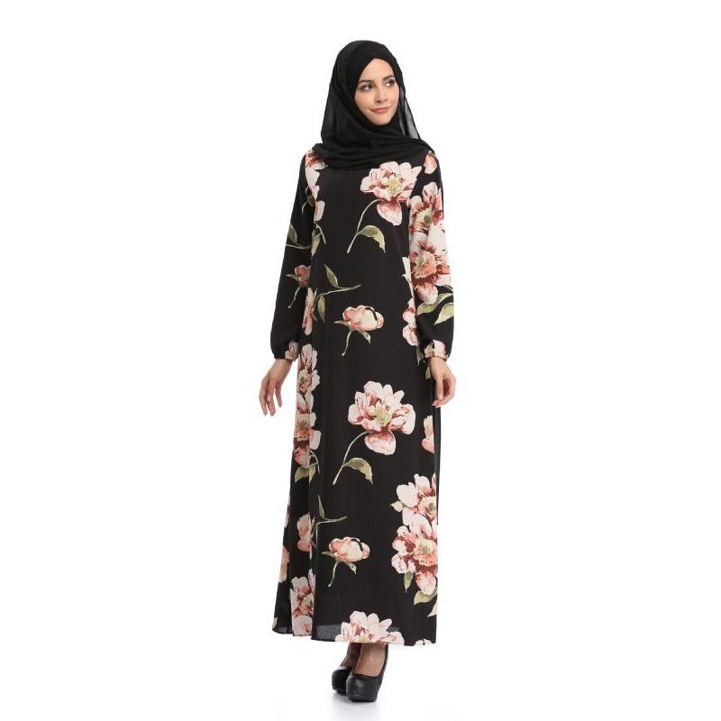 dd939862b1 Muslim Arab Islamic Hui Women's Robe Hui Nationality Large Size Dress 073
