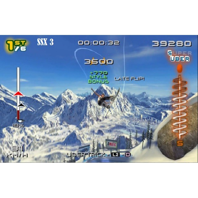 PS2 Game SSX 3 / On Tour / Tricky , English version, Sport Game / PlayStation 2 / PlayStation 3