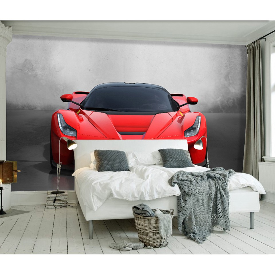 3d Custom Any Size Sports Car Poster Photo Wallpaper Living Room Study Bedroom Tv Background Wall Mural Wallpaper Shopee Malaysia