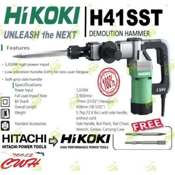 HIKOKI/HITACHI 1,010W Demolition Hammer H41SST - - - - -STANLEY BOSCH MAKITA DEWALT