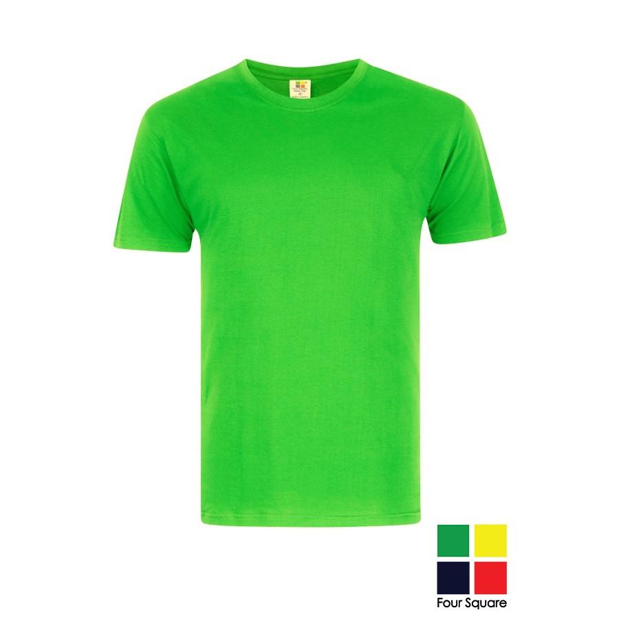 5bc755b0 Four Square Round Neck Cotton T-Shirt - Apple Green   Shopee Malaysia