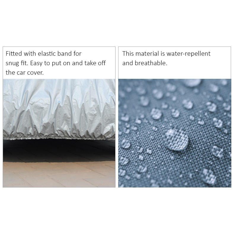 Car Cover Rain Dust Sunlight Resistant Protection for Mazda CX9 Lexus RX BMW X6 BMW X5 (Size YXL) (CCL)