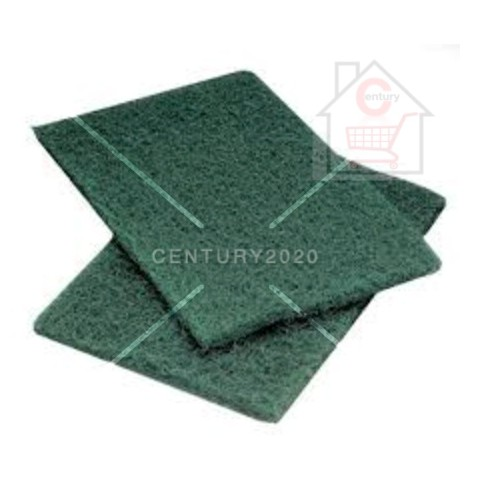 RIMEI Kitchen Cleaning Scrub Sponge Scouring Pads Non-Scratch Pads for Dishes Cleaning Green