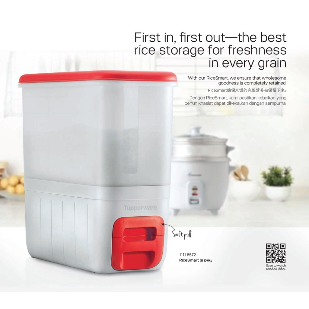 Original Tupperware RiceSmart 10.0kg Container