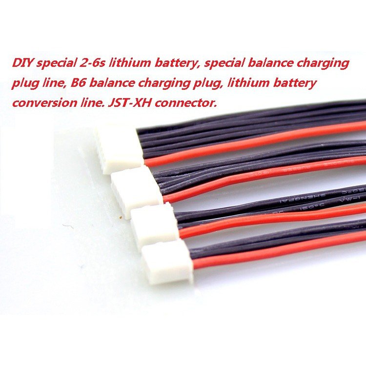 10Pc JST-XH Connector Adapter Plug 2S 3S 4S 5S 6S Battery Balance Charger Cable