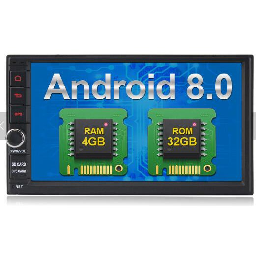 2 din 7 inch car dvd player android universal with 4GB RAM 32GB ROM  Rockchip PX5