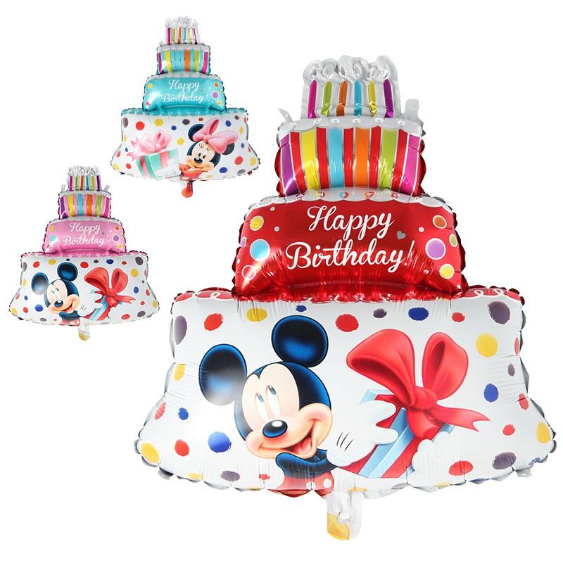 Terrific Minnie Mickey Birthday Cake Aluminum Foil Balloons Birthday Party Personalised Birthday Cards Vishlily Jamesorg