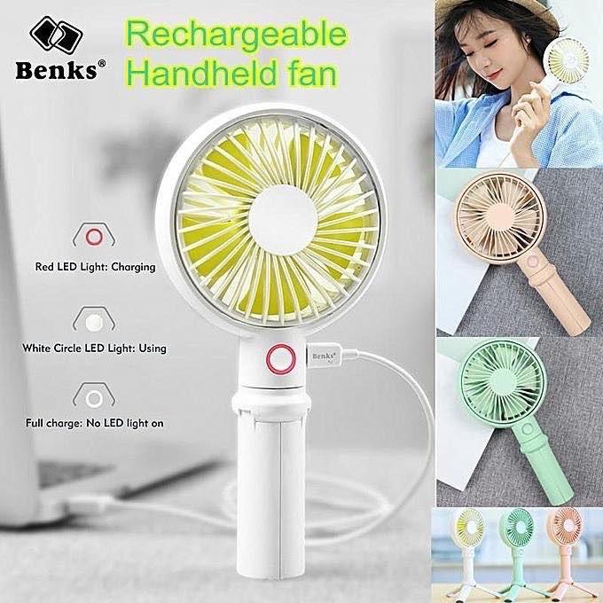 Color : Pink, Size : 3350mah Portable Handheld USB Fan 3-Speed Air Cooler Small Desk Desktop Table Office Fan Rechargeable Mini Fan 2000mAh//3350mAh