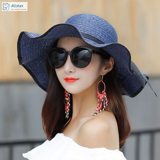 d22770ad7 ☆star☆ Women Summer Straw Hat Big Wide Brim Beach Sun Hat Foldable ...