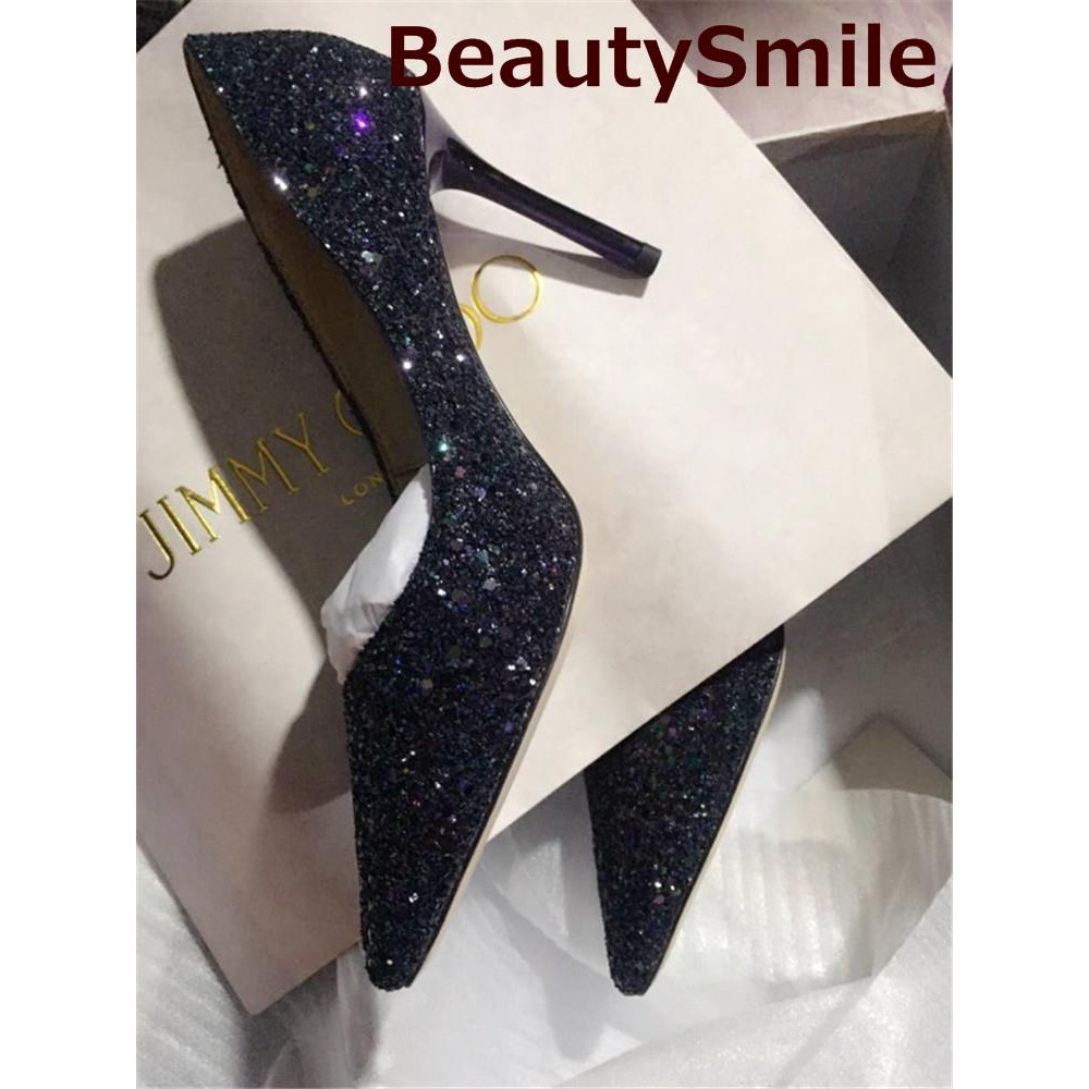 53bc328e5 ProductImage. ProductImage. Shallow mouth nightclub pointed big size high  heels fine gradient sequins ...