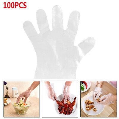 MALAYSIA : 100PCS /SET SARUNG TANGAN PLASTIK LUTSINAR / Plastic Gloves For Restaurant Kitchen BBQ Transparent Food-Grade