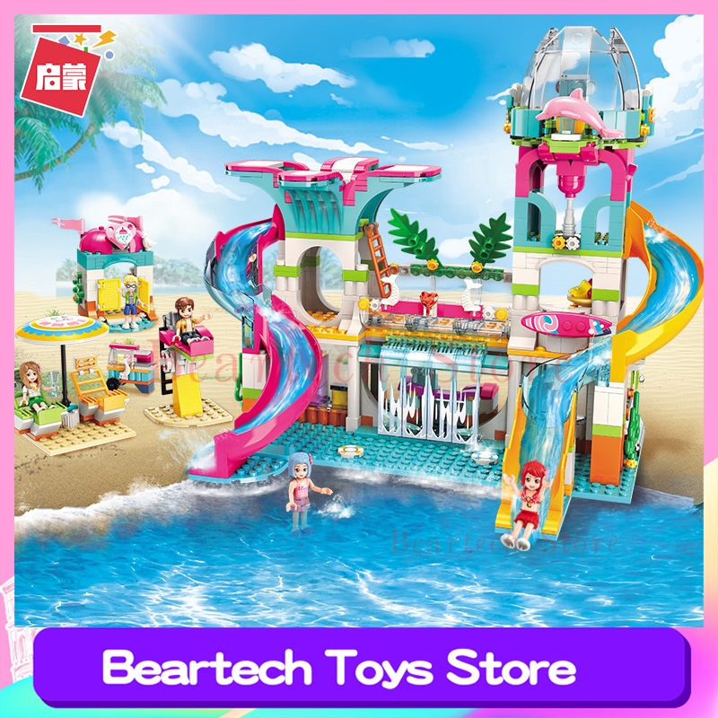 Girls Friends Series Beach Seaside Water Park Building Blocks Bricks Toys  Compatible Lego MOC