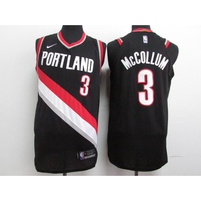 8b4a1309511 NBA Trail Blazers 3 McCollum Black City Edition Nike Jersey