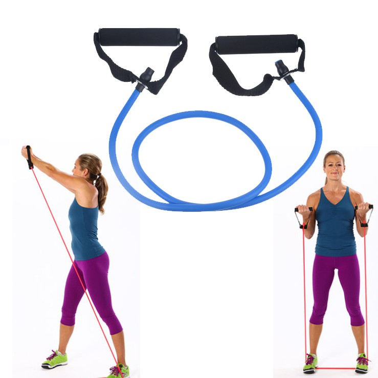 Yoga Pull Rope Resistance Bands Exercise Tubes Practical Training