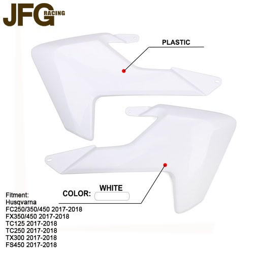 Motorcycle Front Side Plate For Radiator Shrouds For Husqvarna FC250 FC350  FC450 TC125 TC250 FS450