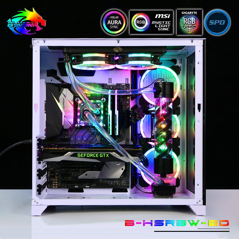 Soft Tube Water Cooling Kits use for CPU with RGB Light