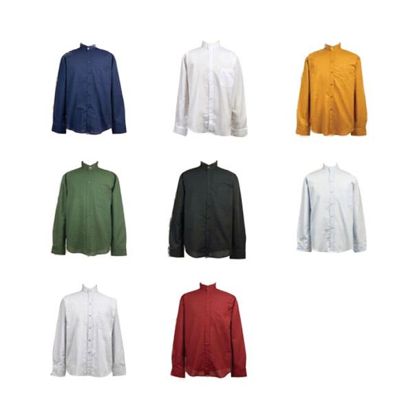 ‼️ถูกที่สุด‼️งานไซส์ เสื้อเชิ้ตคอจีน ผ้าOxford สีพื้น 12 สี แขนยาว