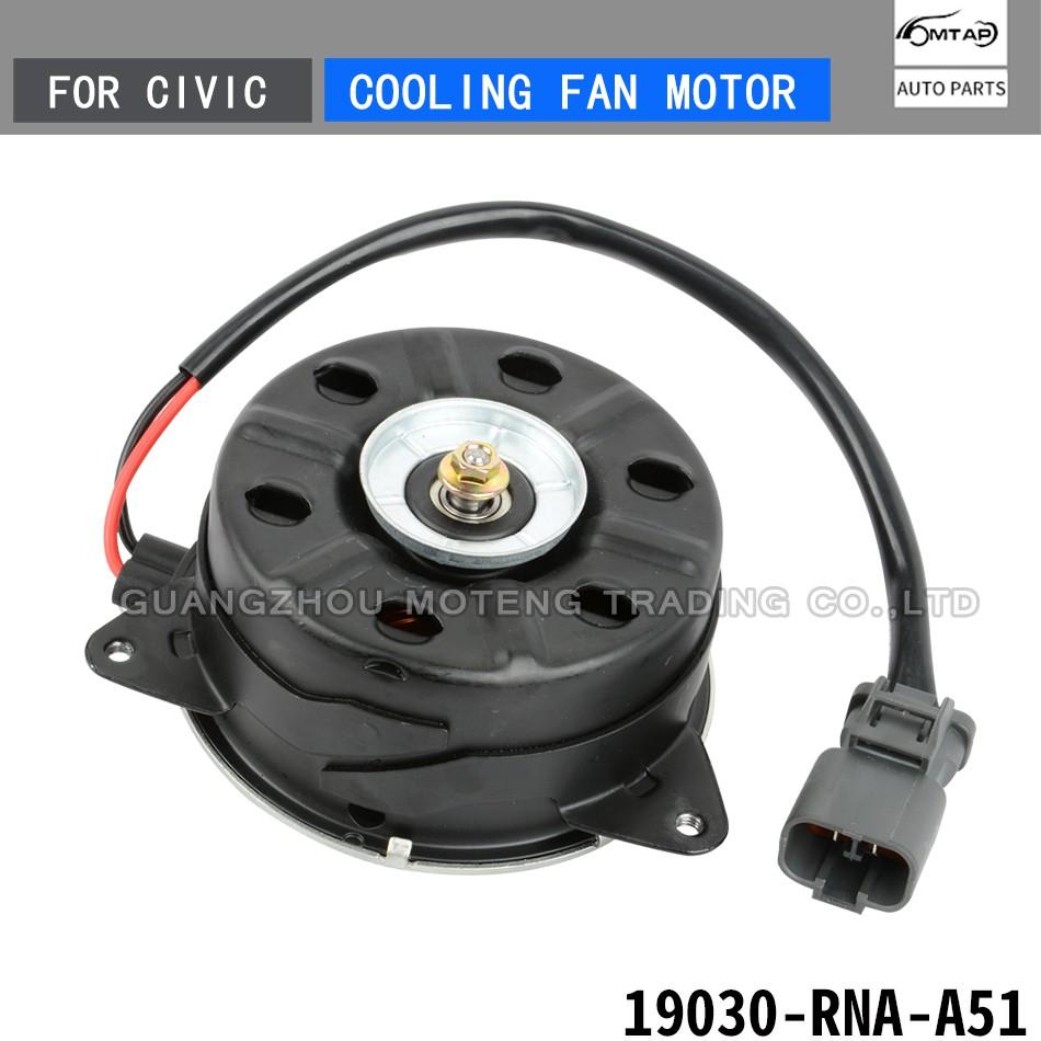 Left Driver Side Radiator Cooling Fan Motor Assembly for 2006-2011 Honda Civic