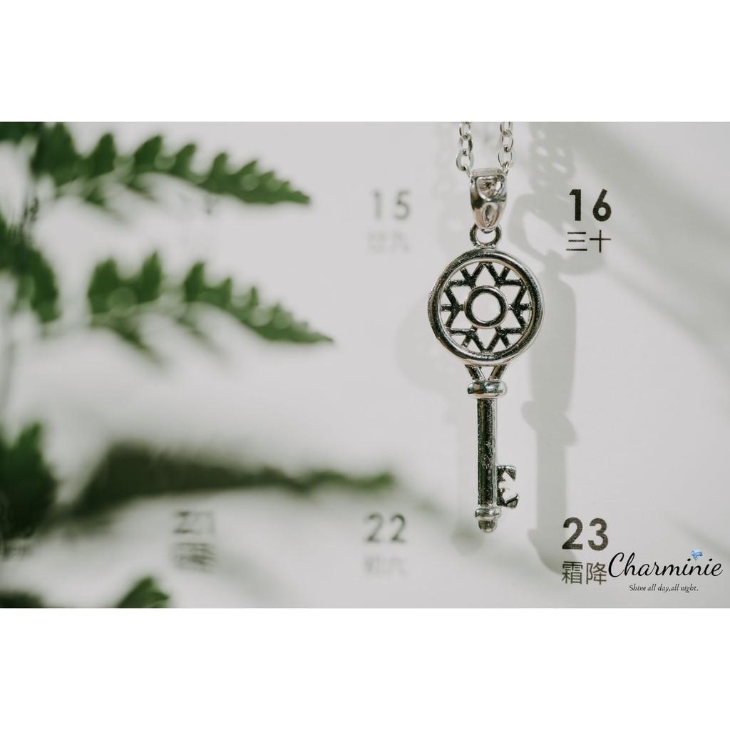 Pure Sliver 925 Key necklace set-Charminie