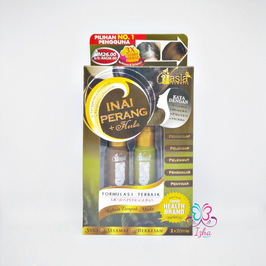 [V\'ASIA] Inai Perang + Herba Extra Lebat (Khusus Rambut Beruban) - 2 x 20ml