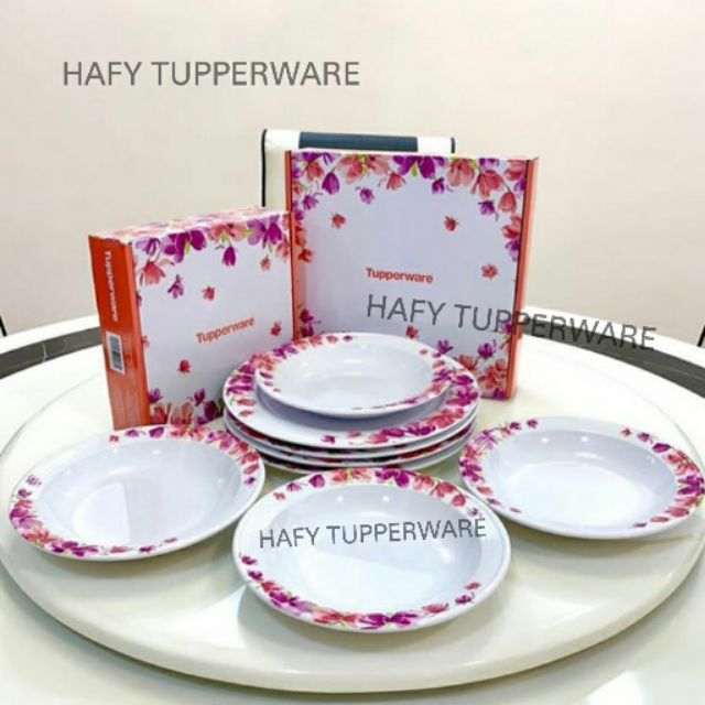 💥LOW PRICE💥Tupperware Garden Blooms Melamine Plates (4) / Tupperware Garden Blooms Melamine Bowls (4)