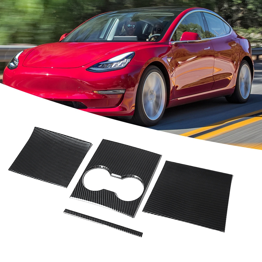 ABS Red Interior Rear Water Cup Holder Frame Trim For Honda CIVIC 2016-2017 2018