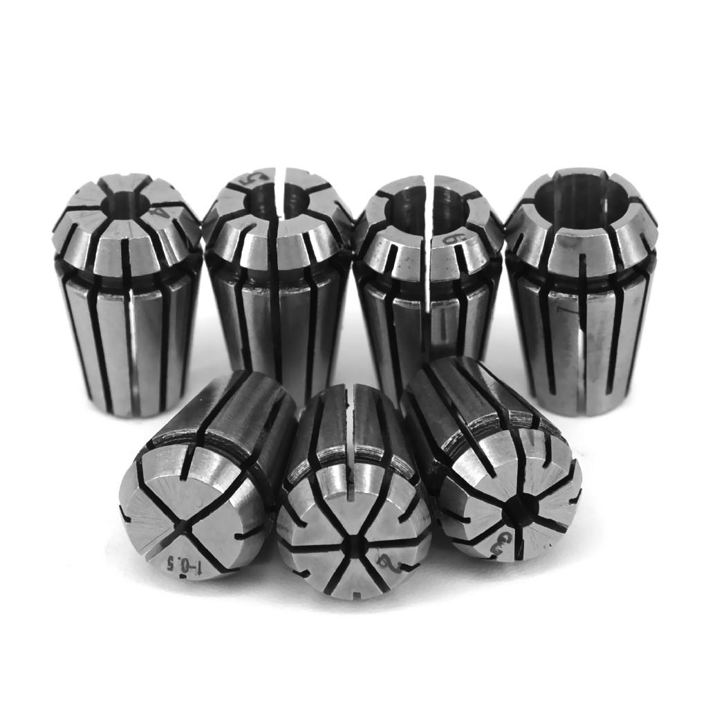 45 Carbon Steel ER11 Collets+Boxes Spring Set Milling Precision High Grade
