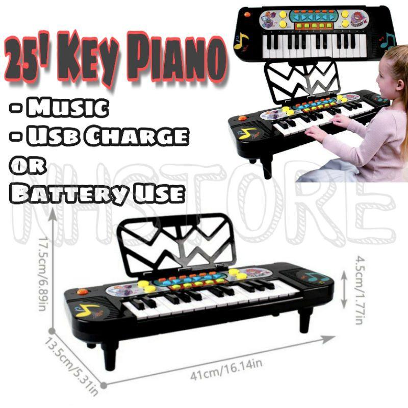 25 Keyboard Piano Kids Music Piano For Kids Multifunction Kids Piano Play / Piano Kanak Kanak Music Usb Piano Budak