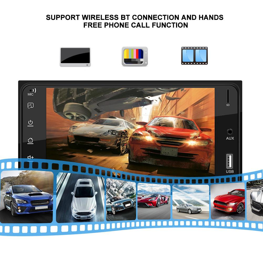 7inch BT Hands-free Car MP5 Player FM Stereo Radio Reverse