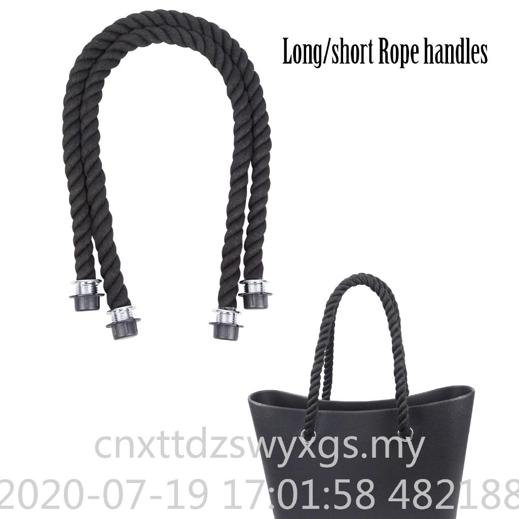 1 Pair Long Short Black Natural Hemp Rope Handle O Bag Obag Women Handbag Classic Mini Eva Bag Shopee Malaysia