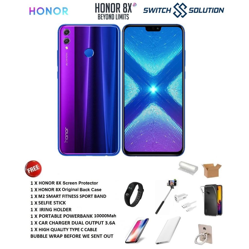 Honor 8X (4GB + 128GB) 1 Year Honor Malaysia Warranty With Freegift