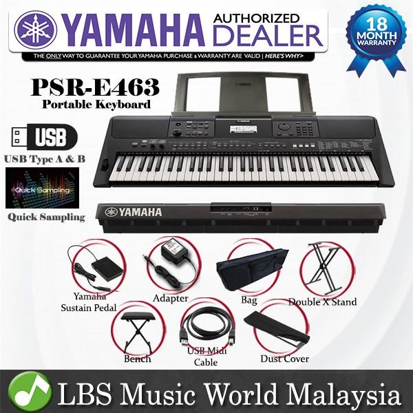 YAMAHA PSR-E463 61 Keys Portable Keyboard Basic (PSRE463 / PSR E463)